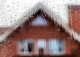 house on rainy day