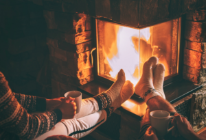 avoid cold air coming through your fireplace