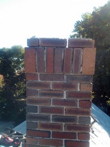 missing mortar on chimney