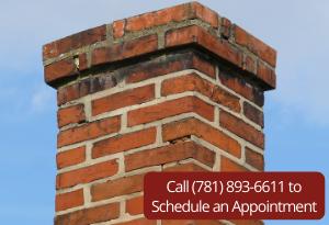 white on chimney brick
